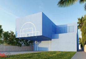 طراحی خانهای متفاوت برای بازیکن سابق NBA در لس آنجلس (+عکس)