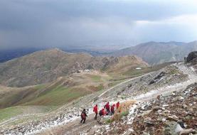 برخورد صاعقه به یک کوهنورد در ارتفاعات توچال