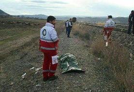 حادثه آفرینی برخورد قطار با عابر پیاده در مراغه آذربایجان شرقی
