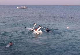 فرود اضطراری جایروکوپر در جزیره کیش/ گردشگران سالم اند
