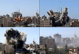 حمله اسرائیل به ساختمان شبکه الجزیره و خبرگزاری آسوشیتدپرس در غزه