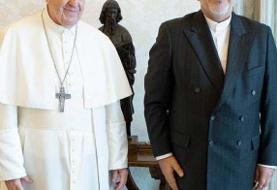فیلم و عکس | دیدار وزیر خارجه با رهبر کاتولیک های جهان | پاپ به ظریف چه هدیه داد؟!