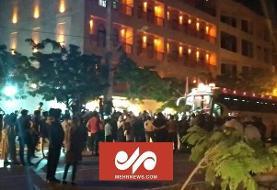 تجمع هواداران پرسپولیس مقابل هتل این تیم در بوشهر
