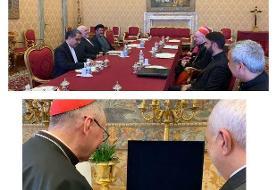 ظریف با نخست وزیر و اسقف اعظم گالا گر واتیکان دیدار کرد