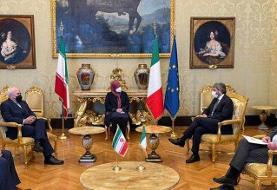 گزارش ظریف از نتیجه دیدارهایش در ایتالیا
