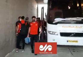 ورود تیم فوتبال پرسپولیس به ورزشگاه شهید مهدوی بوشهر