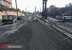 تصاویر | ماشینهای سوخته در آتش سوزی کارخانه الکل
