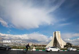 کیفیت قابل قبول هوای تهران طی امروز