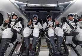 ویدئو| سفینه دراگون با چهار فضانورد در اقیانوس فرود آمد| نخستین فرود در دریا پس از ۵۳ سال