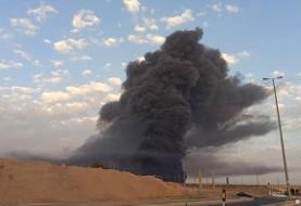 آتش سوزی مهیب در یک کارخانه صنایع شیمیایی قم