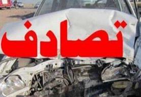 تصادف زنجیرهای ۹ دستگاه خودرو در بزرگراه مدرس