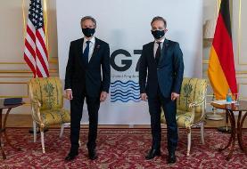 وزیرخارجه آمریکا: با وزیرخارجه آلمان درباره ایران گفتگو کردم