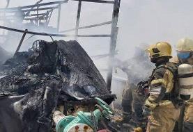 باز هم آتشسوزی مهیب در مرکز شهر تهران: انبار نگهداری لوازم کامپیوتر در کارگر جنوبی+فیلم