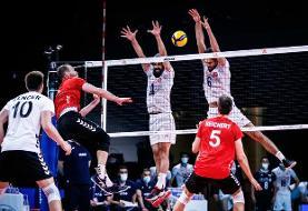لیگ ملتهای والیبال/ ایران  ۱ -۲ آلمان