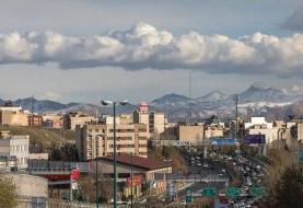 رگبار پراکنده در برخی مناطق کشور/ تنفس هوای مطلوب در پایتخت