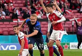 پیروزی فنلاند در شب پرماجرای یورو برابر دانمارک