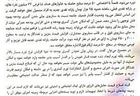 نامه همتی به روحانی برای «۵ هزار تومان شدن بنزین» منتشر شد+ سند