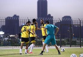 تمرینات شاداب ملی پوشان ایران در ورزشگاه النجمه بحرین