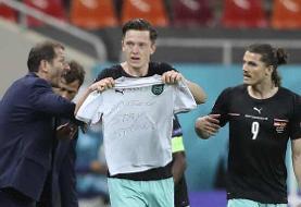 مهاجم اتریش زننده هفتصدمین گل تاریخ یورو
