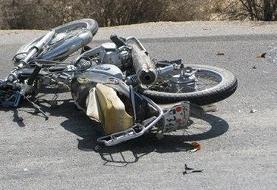 مرگ ۲ تن در تصادف پژو و موتورسکیلت