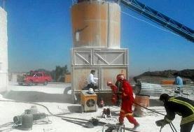 سقوط مرگبار یک کارگر به داخل سیلوی گچ در قم