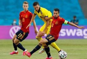 شروع ناامیدکننده اسپانیا در یورو ۲۰۲۰