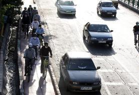 تکمیل رینگ مسیر دوچرخه «به راه» در خیابان دماوند به طول ۵ کیلومتر