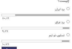 پیروزی قاطع ایران مقابل عراق پیش از شروع بازی/عکس