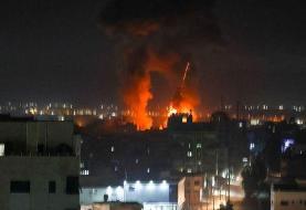 حمله اسرائیل به غزه بعد از ارسال بادکنکهای آتشزا