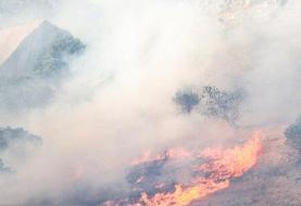 تلاش خوزستان و کهگیلویه برای مهار آتش در کوههای حاتم