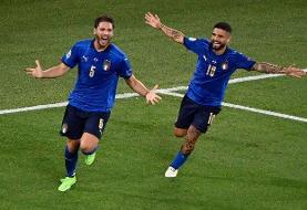 برد پرگل ایتالیا برابر سوئیس | آتزوری مدعی قهرمانی یورو