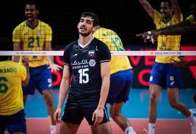 زور والیبال ایران به برزیل نرسید