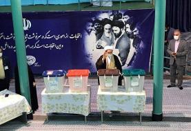 سردار سعید محمد و علی یونسی پای صندوق رأی رفتند +عکس