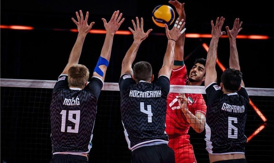 لیگ ملتهای والیبال: ایران به اسلوونی هم باخت