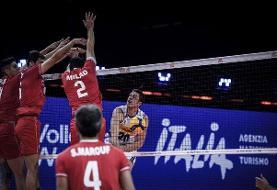 شکست ایران در ست سوم برابر اسلوونی