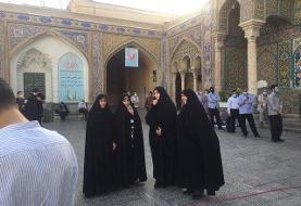حضور زنان کاندیدای لیست شورای ائتلاف شورای شهر تهران پای صندوق رأی