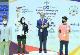 نایب قهرمانی تاریخی تکواندوی بانوان ایران در آسیا/ تیم مردان سوم شد