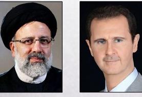بشار اسد پیروزی رئیسی را تبریک گفت
