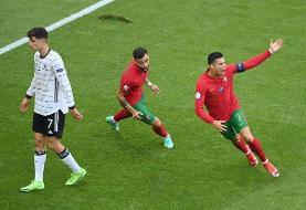 آلمان با تحقیر پرتغال به جمع مدعیان بازگشت / رونالدو به ۲ قدمی دایی رسید