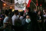 جشن پیروزی ابراهیم رئیسی در انتخابات ریاست جمهوری - میدان ولیعصر