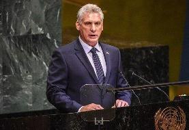 رئیس جمهور کوبا پیروزی آیتالله رئیسی در انتخابات را تبریک گفت