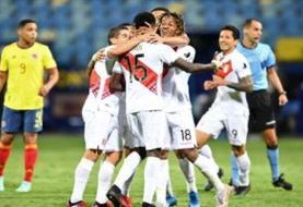 شکست کلمبیا برابر پرو در کوپا آمه ریکا
