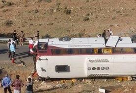 اعلام علت واژگونی اتوبوس خبرنگاران