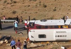 سازمان راهداری: راننده در حادثه واژگونی اتوبوس خبرنگاران مقصر بوده