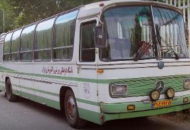 اتوبوس قدیمی تیم تراکتور که خاطره انگیز است/عکس
