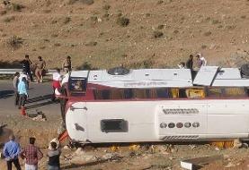 نقص فنی و ترمز اتوبوس علت وقوع حادثه برایخبرنگاران