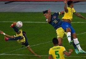 برزیل همچنان روی نوار پیروزی/ تساوی اکوادور و پرو