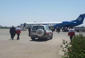 بازگشت خبرنگاران حادثه دیده در آذربایجان غربی به تهران (عکس)