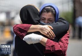 ویدئو / ورود قربانیان و مصدومان سانحه واژگونی اتوبوس خبرنگاران به تهران