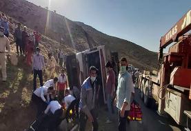 بازداشت راننده اتوبوس واژگون شده خبرنگاران